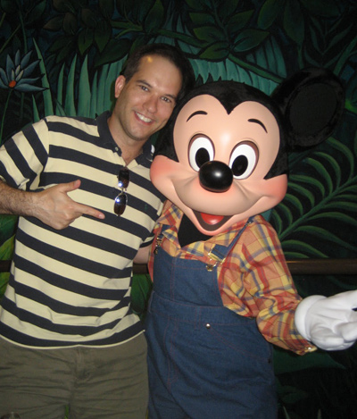 Me hanging with Mickey Mouse