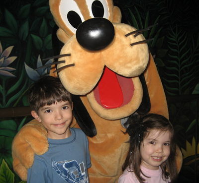 The kids and Pluto
