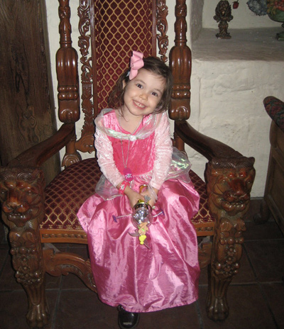 Mia at the Disneyworld Princess Dinner