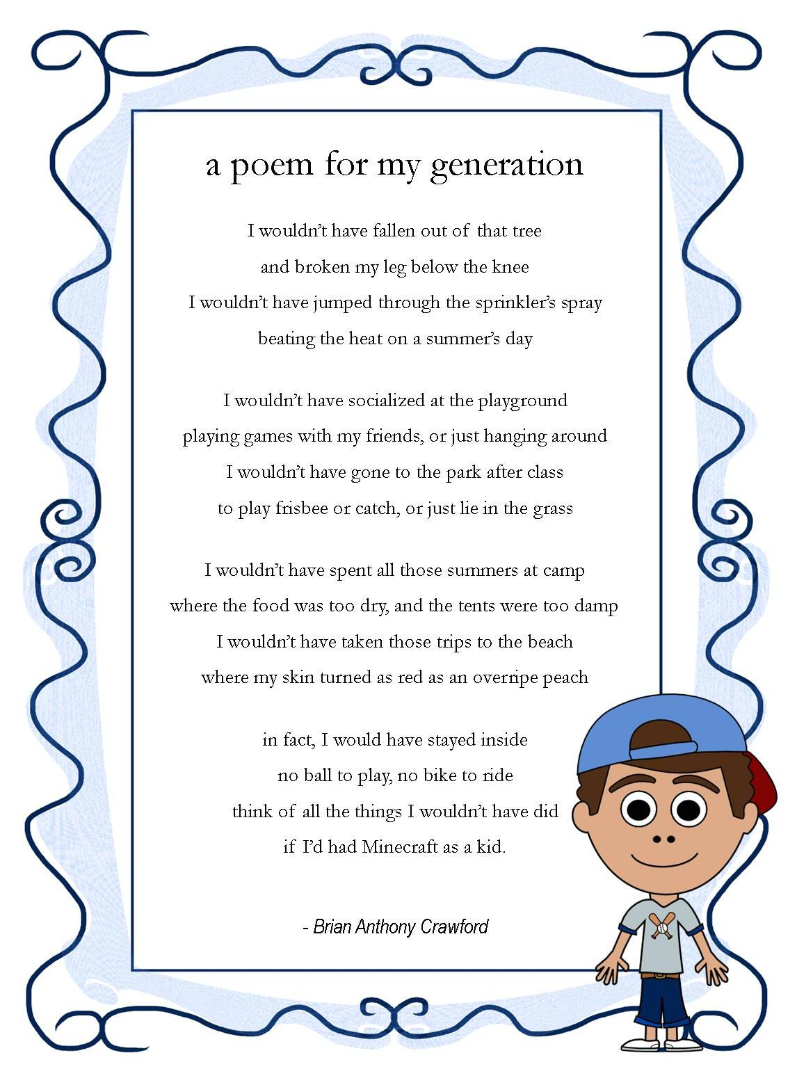 A poem for my generation