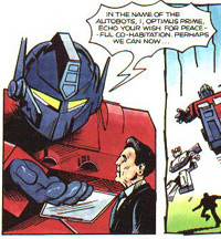 Optimus Prime meets Ronald Reagan