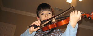 Callum and his violin