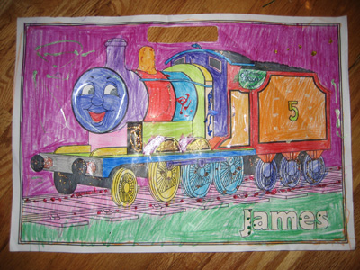 James from Thomas the Tank Engine
