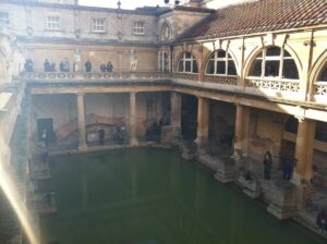 The Roman bath in Bath, England