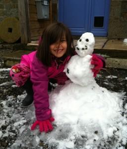 Amelia's snowman