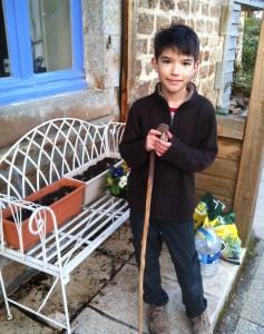 Callum gardening