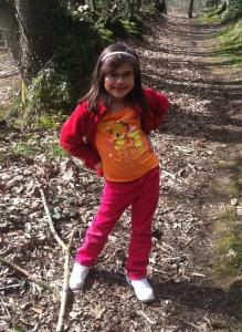 Amelia on the trail