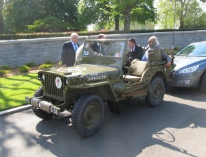 An American jeep from the 1940s