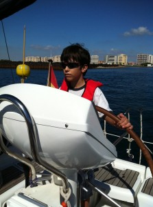 Helming the boat