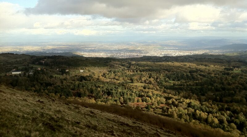 Overlooking Clermont-Ferrand from Le Pariou