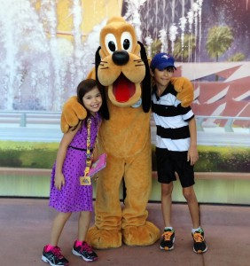 The kids with Pluto