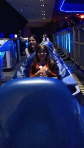Riding Space Mountain