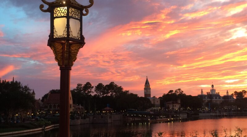 Sunset at the World Showcase