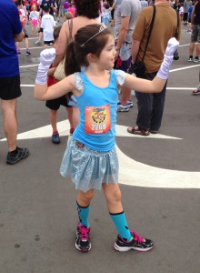 Getting ready to run the Princess Mickey Mile