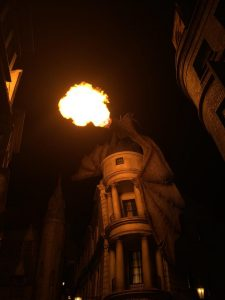 The Gringotts Dragon at Universal