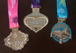 The 2015 Glass Slipper Challenge trio of medals.