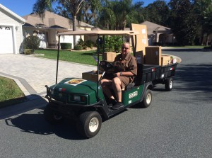 The Villages, Florida UPS golf cart