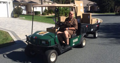 The Villages UPS golf cart