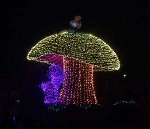 Alice on the mushroom