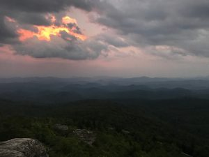 Rough Ridge Hiking Trail sunset