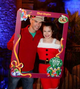 Amelia and I at Mickey's Very Merry Christmas Party