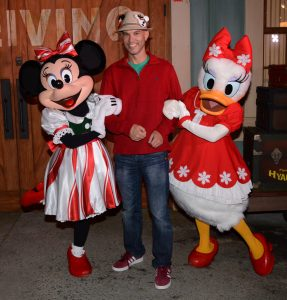 Minnie Mouse and Daisy Duck at Mickey's Very Merry Christmas Party