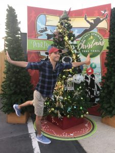 Brian Crawford and the Peter Pan Christmas tree