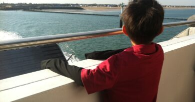 Leaving the port of Ouistreham