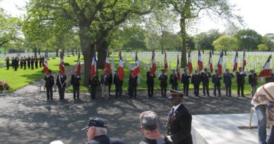 Flags at the Brittany American Cemetery and Memorial