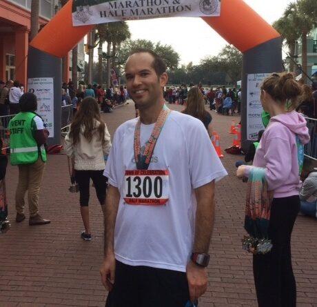 Celebration Half Marathon finish line