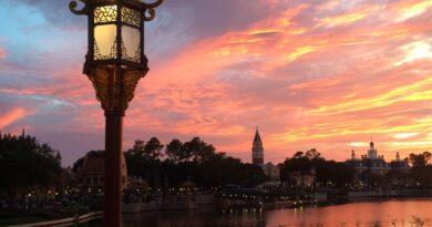 Sunset at the World Showcase