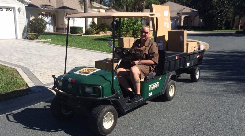 The Villages UPS golf cart