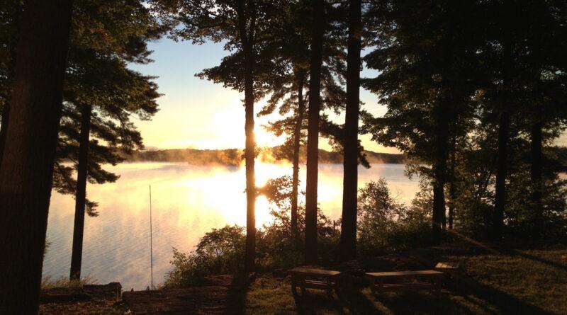 Ontario cottage at dawn
